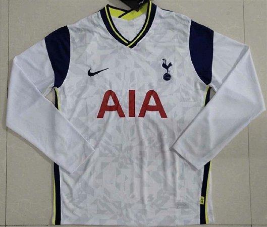 Camisa Tottenham Hotspur 2020-21 (Home-Uniforme 1) - manga longa