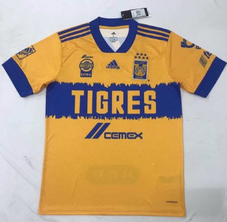 Camisa Tigres UANL 2020-21 (Home-Uniforme 1)