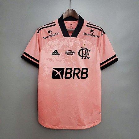 Camisa Flamengo 2020 (Outubro Rosa) - masculina - com patrocínios