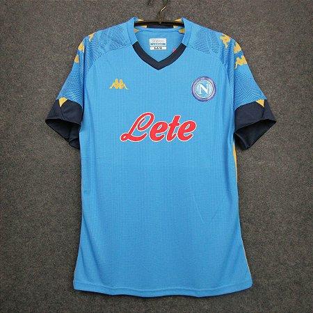 Camisa Napoli 2020-21 (Home-Uniforme 1) - Europa League