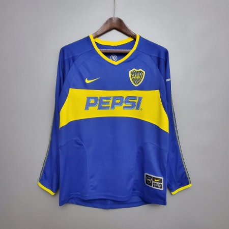 Camisa Boca Juniors 2003-2004 (Home-Uniforme 1) - Manga Longa