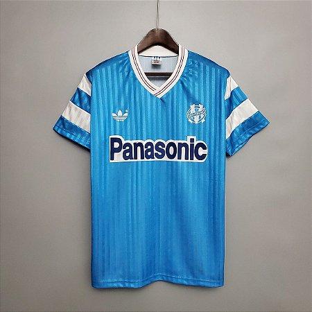 Camisa Olympique Marseille 1990 (Away-Uniforme 2)