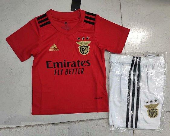 Conjunto Infantil (Camisa + Shorts) Benfica 2020-2021 (Home-Uniforme 1)