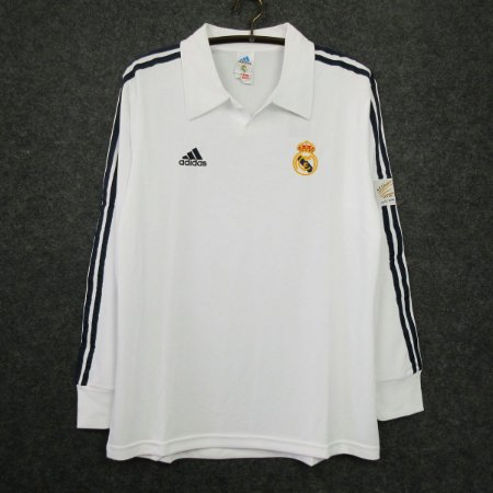 Camisa Real Madrid 2002-2003 (Home-Uniforme 1) - Manga Longa
