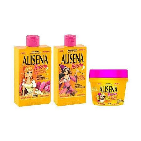 Kit Muriel Alisena Teen Shampoo + Condicionador + Máscara