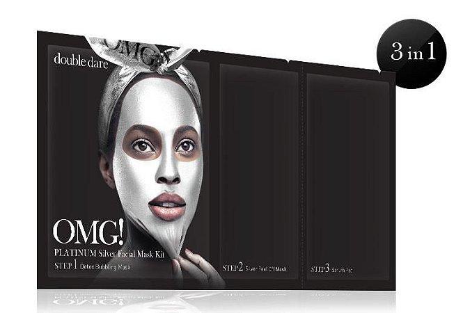 OMG! KIT Máscara Facial Platinum Silver