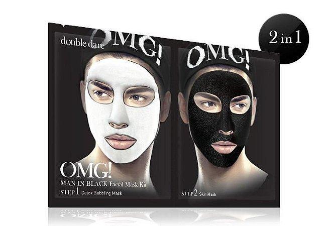 Double Dare OMG! Kit Máscara Facial Detox Masculino Man in Black