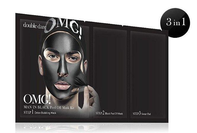 OMG! Man in black peel off mask kit