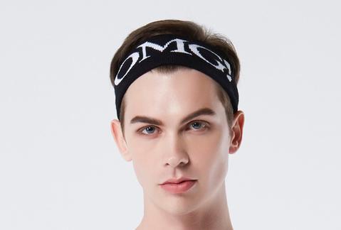 Double Dare OMG! Bandana para cabelos na cor preta - Masculina