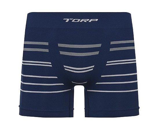 Cueca Torp Boxer Microfibra Sem Costura Cor Azul - R8465