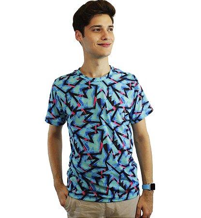 camiseta dionisio collection sicodelica balada azul