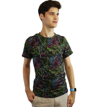 camiseta dionisio collection sicodelica balada preto