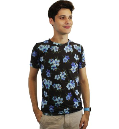 camiseta dionisio collection tulipas marrom