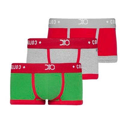 kit cueca mini boxer dionisio collection tendence multicolorido