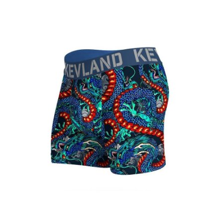 cueca boxer blue dragons kevland azul