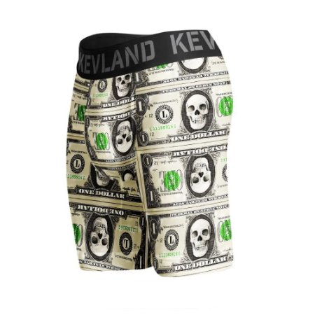 cueca boxer long leg kevland one dolar verde