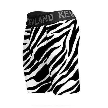 cueca boxer long leg kevland zebra preto