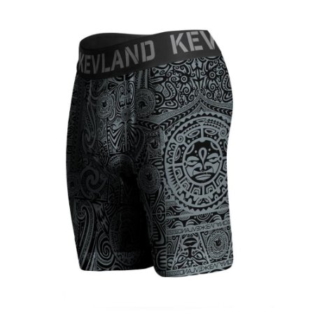 cueca boxer long leg kevland maori all black cinza