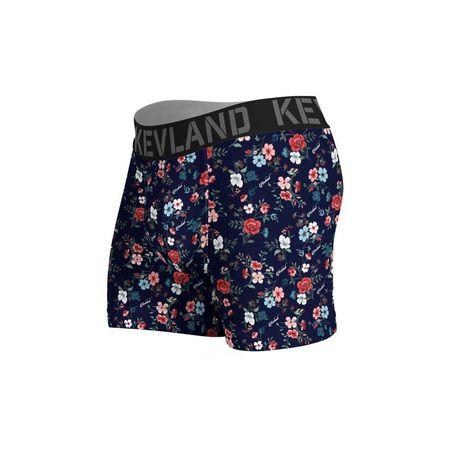 cueca boxer kevland dark flowers azul