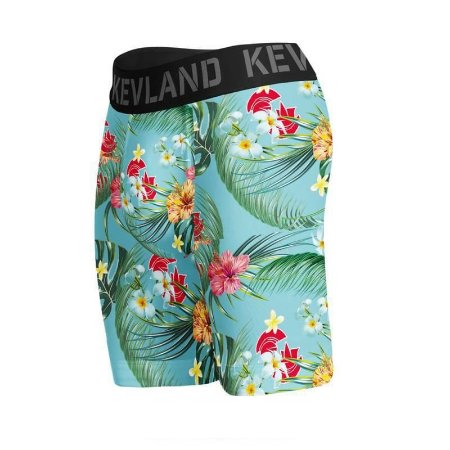 cueca boxer long leg kevland floral blue