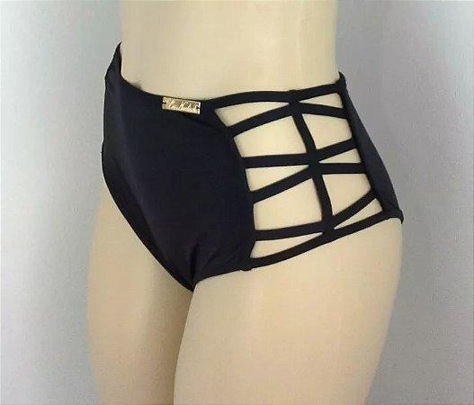 7b30f3898de4 Calcinha Cintura Alta Tirinhas Biquíni/biquíni Hot Pants - La Nadior