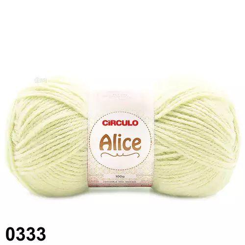LA ALICE CIRCULO COR 333 AMARELO CANDY 100G