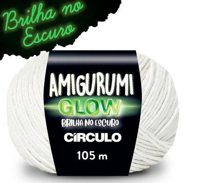 FIO AMIGURUMI GLOW CIRCULO 50 G BRILHA NO ESCURO