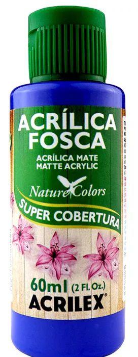 TINTA ACRILICA FOSCA AZUL INTENSO NAT. COLORS 60 ML ACRILEX