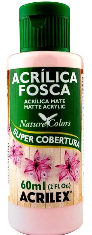 TINTA ACRILICA FOSCA ROSA COTTON NAT. COLORS 60 ML ACRILEX