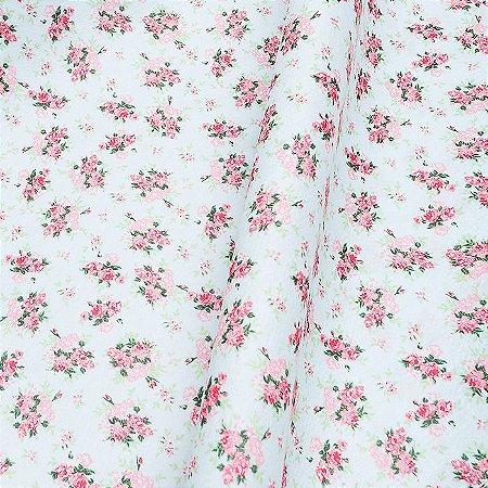 Feltro Floral Color Baby Azul 5030.030 Santa Fé - Medidas 0,40x1,40