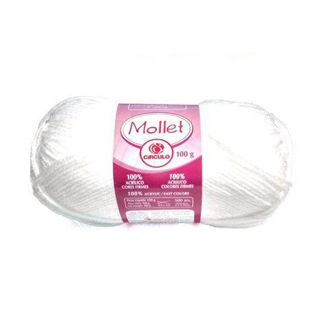 LÃ MOLLET CIRCULO 100G - cor 010 branco