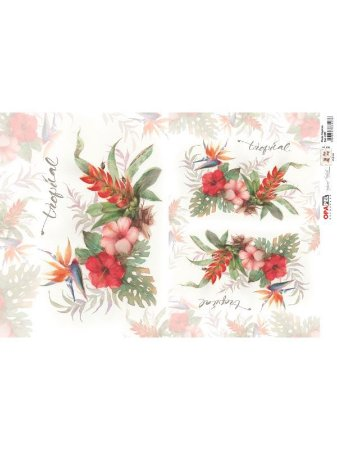 OPL - 30X45 FLORES TROPICAL REF 2383 - OPAPEL