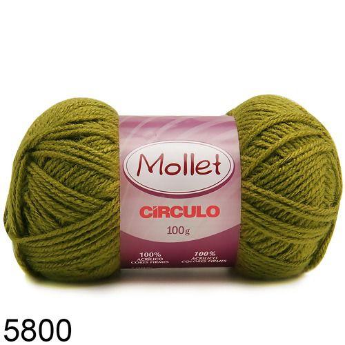 LÃ MOLLET CIRCULO 100G - COR 5800