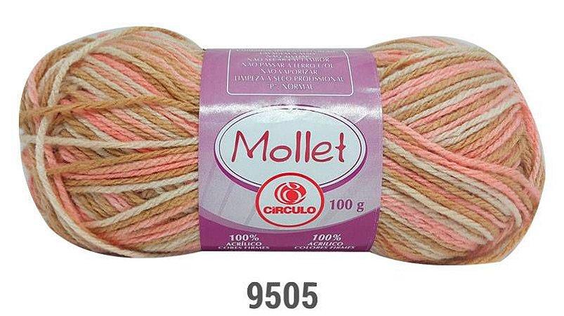 LÃ MOLLET CIRCULO 100G - COR 9505