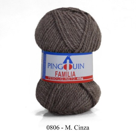 FIO FAMILIA 40 GR COR 806 CINZA MEDIO PINGOUIN