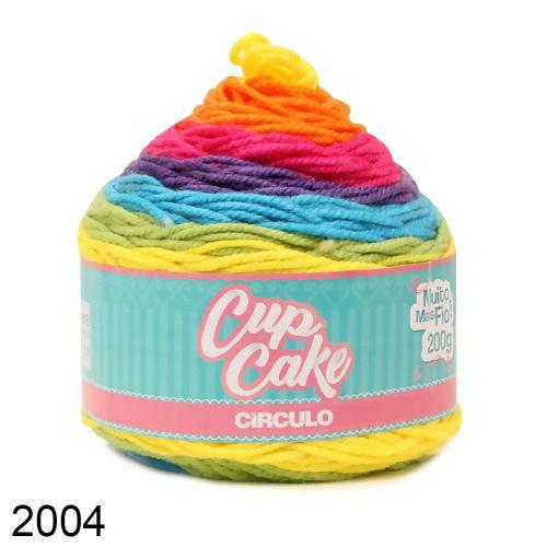 FIO CUP CAKE 200 GR CIRCULO COR 2004