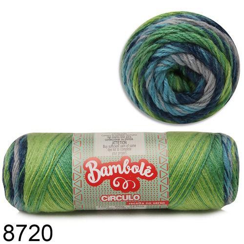 FIO BAMBOLE 410 MTS 100GR COR 8720 CIRCULO