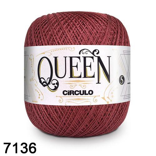 Fio Queen 5/2 Circulo 100g Tex 236 COR 7136 MARSALA