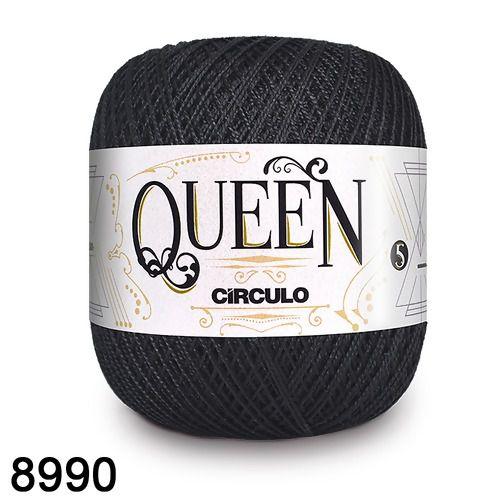Fio Queen 5/2 Circulo 100g Tex 236 COR 8990 PRETO