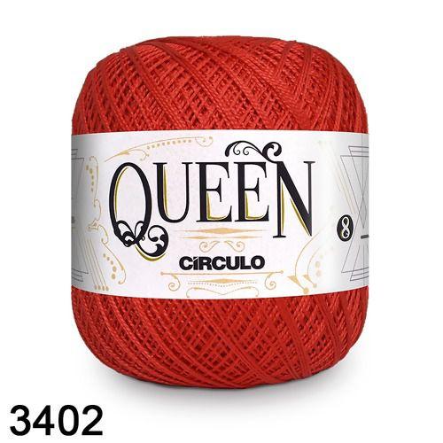 Fio Queen 8/2 Circulo 100g Tex 147,5 COR 3402 VERMELHO CIRCULO