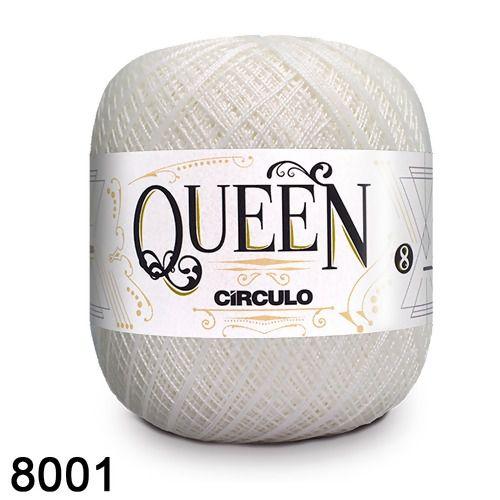 Fio Queen 8/2 Circulo 100g Tex 147,5 COR 8001 BRANCO