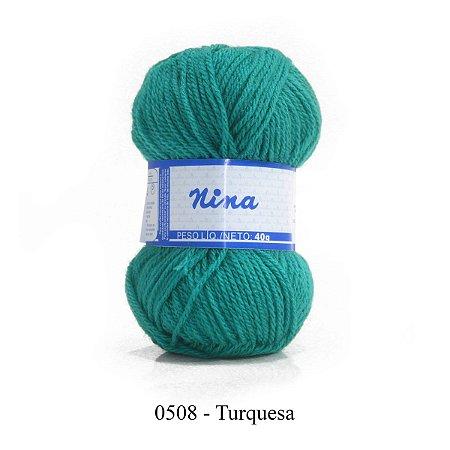 FIO NINA 40GR COR 508 TURQUESA