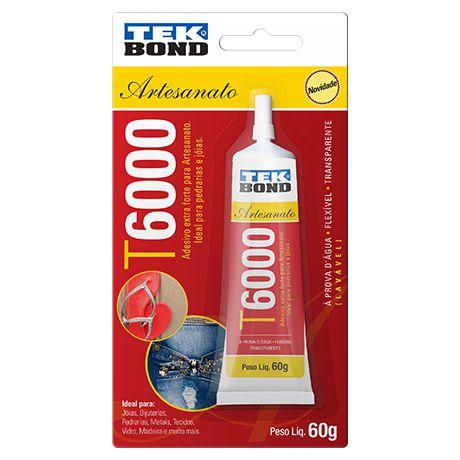 Cola Adesivo Para Artesanato Tek Bond T6000 60g