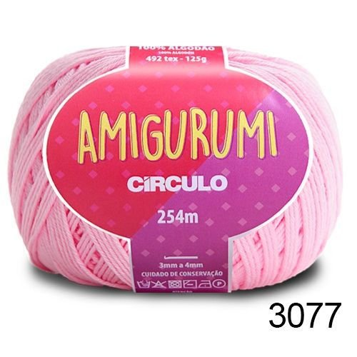 LINHA AMIGURUMI 125 G COR 3077