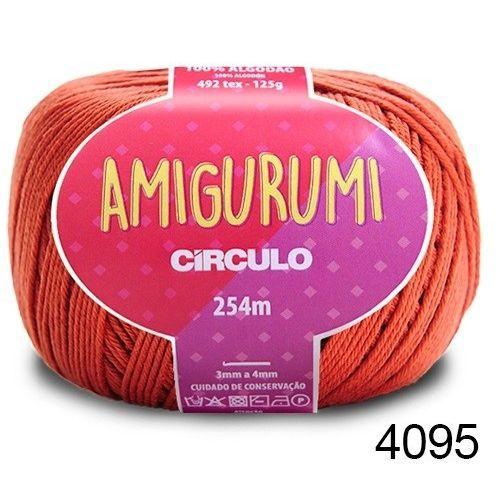 LINHA AMIGURUMI 125 G COR 4095 RUM VINHO