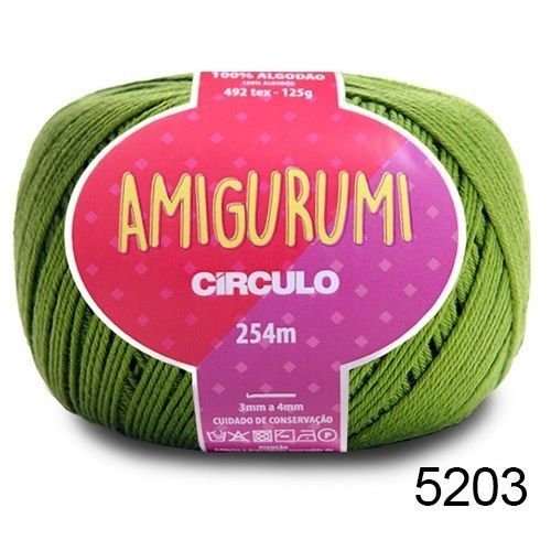 LINHA AMIGURUMI 125 G COR 5203 GREENERY