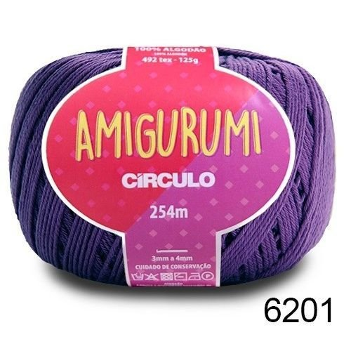 LINHA AMIGURUMI 125 G COR 6201 TECNO ROXO