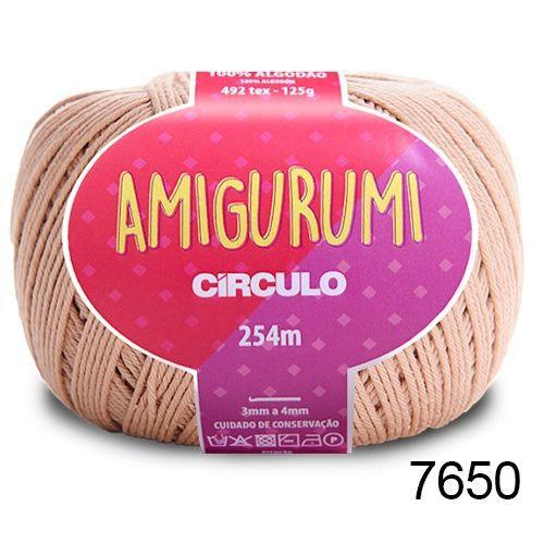 LINHA AMIGURUMI 125 G COR 7650 AMENDOA BEGE