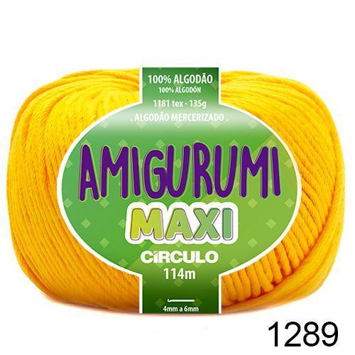 FIO AMIGURUMI MAXI 135 GR 114 MTS COR 1289 CANÁRIO