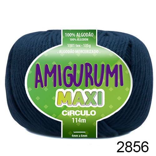 FIO AMIGURUMI MAXI 135 GR 114 MTS COR 2856 ANIL PROFUNDO